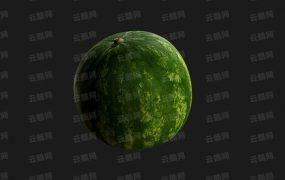 C4D水果 西瓜模型-云酷网