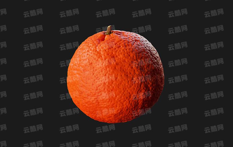 C4D水果 橘子模型-云酷网