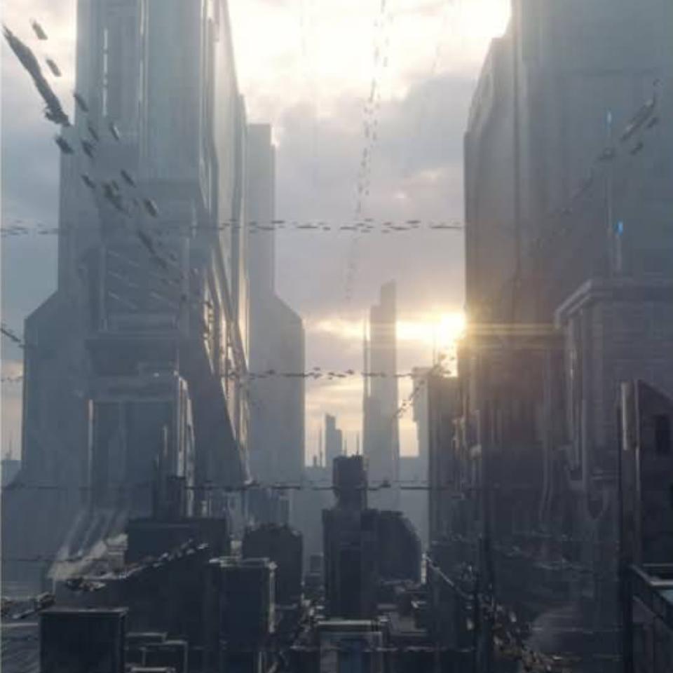 云酷网-恢弘的未来高科技工业帝国城市 3D模型