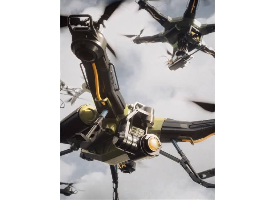 现代战争未来无人机模型包 3D模型-云酷网