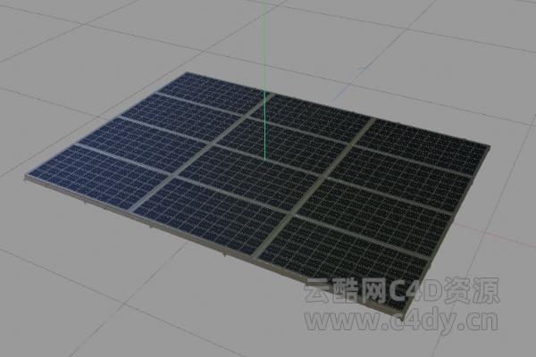云酷网C4D模型-太阳能05