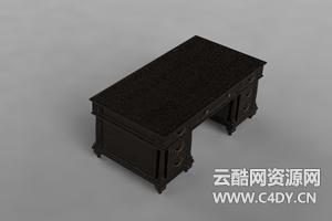 云酷C4D-室内家具书架柜子茶几桌子模型02