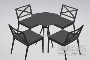 云酷C4D模型-桌子模型椅子模型餐桌模型