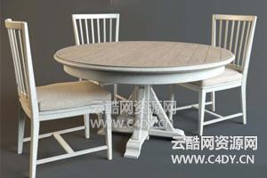 云酷C4D模型-桌子模型椅子模型餐桌模型01
