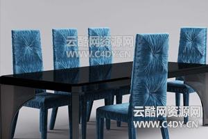 云酷C4D模型-桌子模型椅子模型餐桌模型02