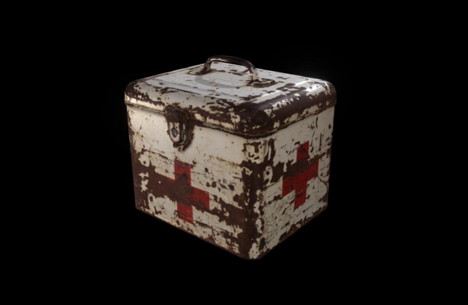 云酷网C4D模型-生锈的紧急医疗服务箱