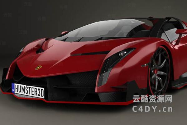 兰博基尼超级跑车汽车模型,C4D模型,云酷网c4d