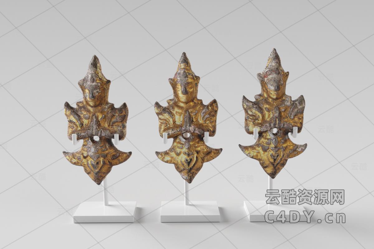 现代雕塑3D模型下载-C4D模型-云酷网c4d