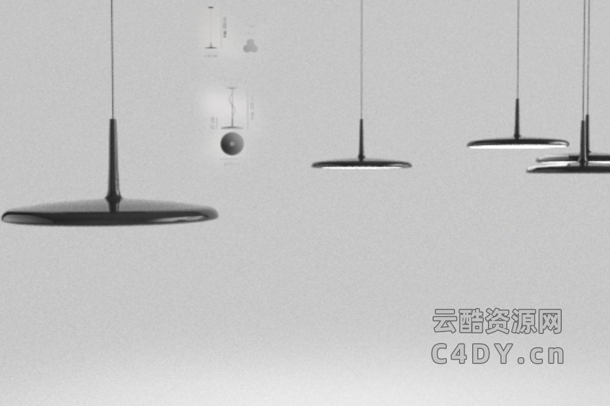 吊灯-室内吊灯,C4D模型-云酷网c4d