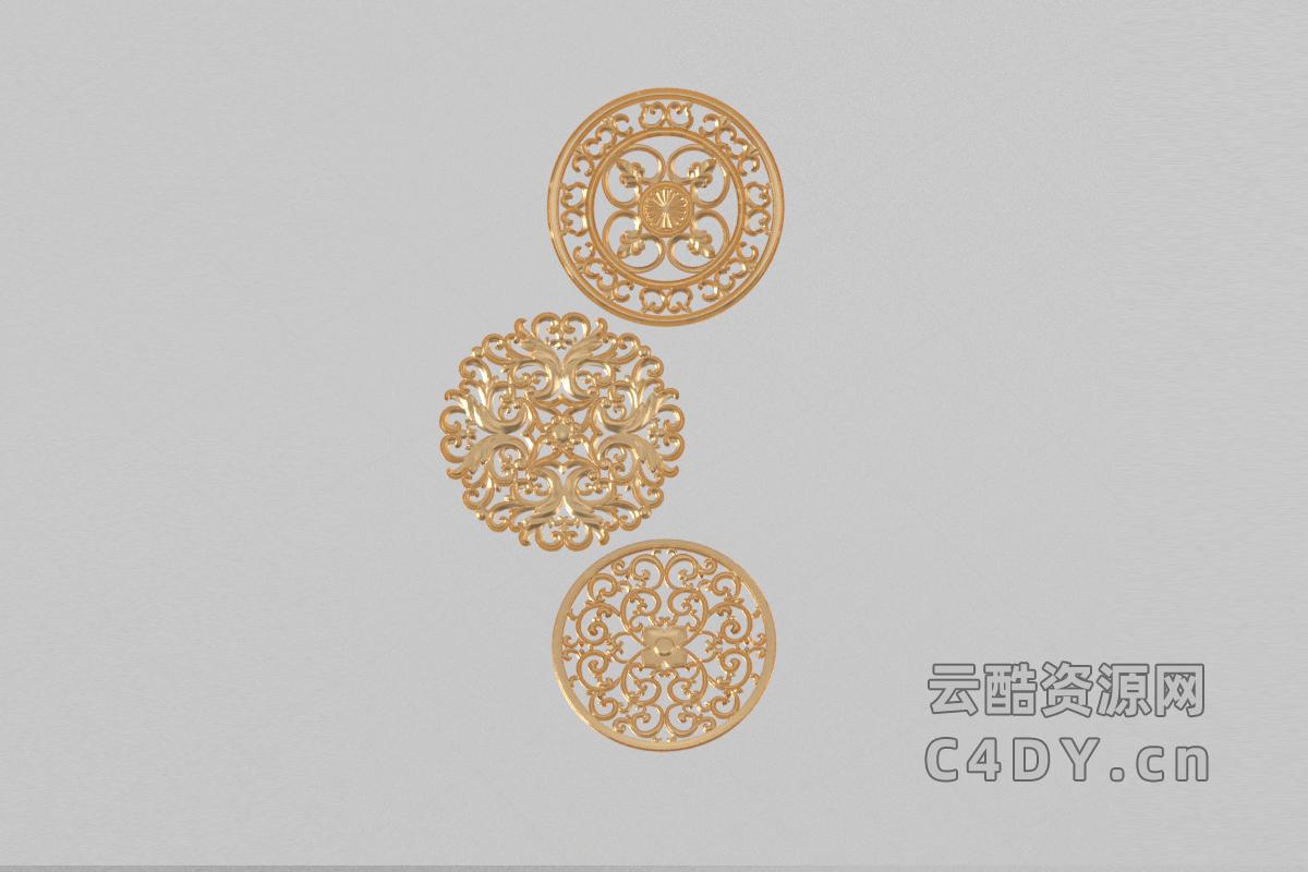雕刻-室内雕刻装饰,C4D模型-云酷网c4d
