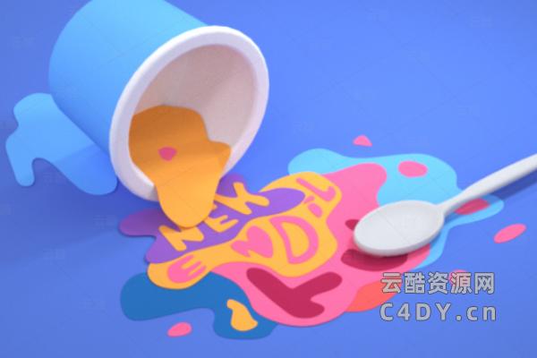 2.5D纸杯工程,纸杯C4D工程-云酷网c4d