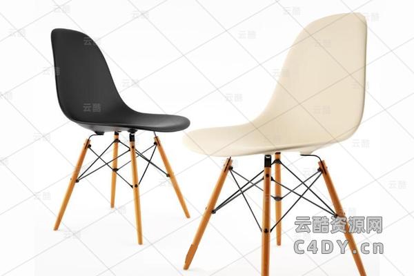 时尚休闲椅子-室内休闲椅,C4D模型-云酷网c4d