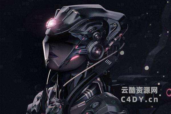 未来幻想机器人工程文件 C4D模型-云酷网c4d