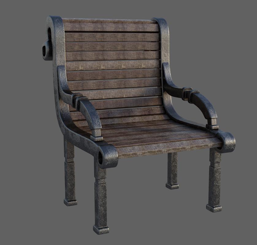旧木椅-室内旧木椅,C4D模型-云酷网c4d