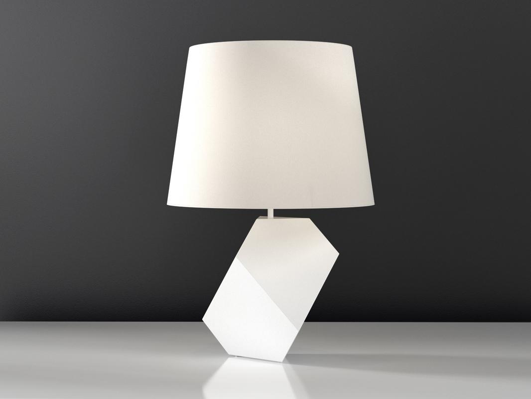 Durer 台灯-室内台灯,C4D模型-云酷网c4d