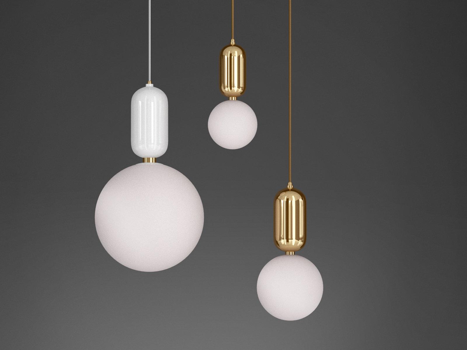 Aballs 吊灯-室内台灯,C4D模型-云酷网c4d