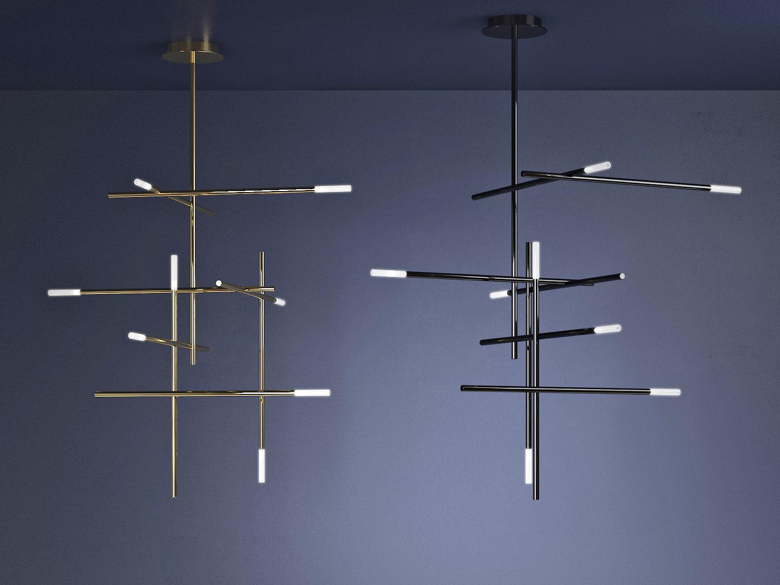 Kitami L 吊灯-室内台灯,C4D模型-云酷网c4d