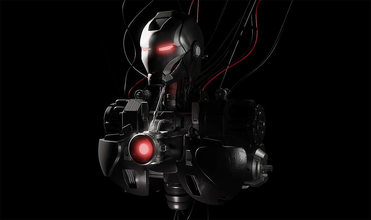 钢铁侠机器人工程文件 C4D钢铁侠模型-复仇者联盟模型-云酷网c4d