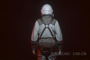 4D工程:科技科幻宇航员C4D科幻场景C4D工程文件科技科幻宇航员模型 Octane渲染工程文件 云酷网c4d