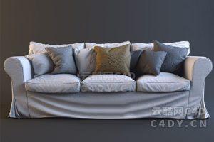 高质量沙发-室内沙发,C4D沙发模型-云酷网c4d