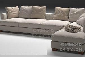 沙发抱枕-室内沙发抱枕,C4D沙发抱枕模型-云酷网c4d