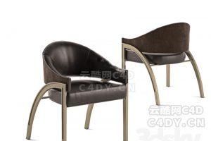 休闲椅子沙发-室内家具休闲椅,C4D模型-云酷网c4d