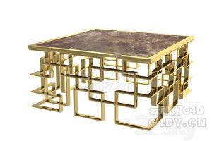 休闲桌子-室内家具休闲椅,C4D模型-云酷网c4d