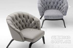 现在代沙发椅-室内现在代沙发椅模型,C4D沙发椅模型-云酷网c4d