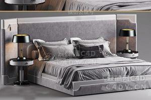 现在代床具-室内现在代床上用品模型,C4D沙发躺椅模型-云酷网c4d