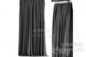 现代窗帘-室内现代窗帘模型,C4D窗帘模型-云酷网c4d