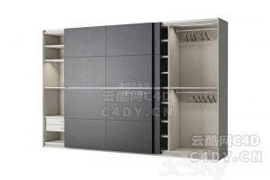 现代家具柜子-室内现代柜子模型,C4D沙发躺椅模型-云酷网c4d