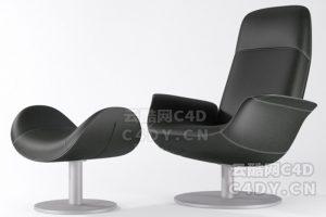 现代皮椅-室内现代皮沙皮椅模型,C4D沙发椅模型-云酷网c4d
