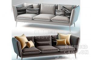 现代沙发-室内现代沙发模型,C4D沙发模型-云酷网c4d