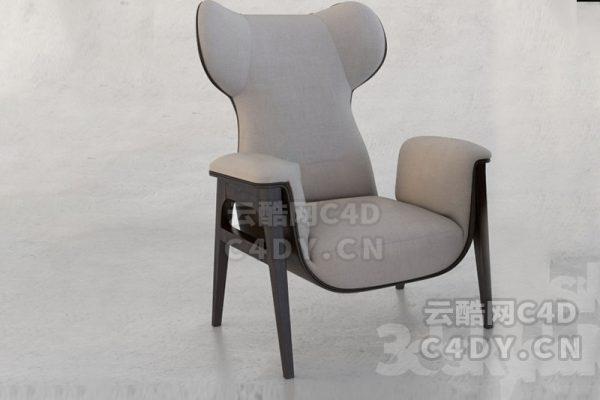 沙发椅子02-室内家具沙发椅子,C4D模型-云酷网c4d