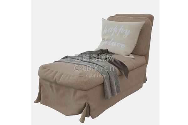 沙发椅-室内在代沙发椅模型,C4D沙发椅模型-云酷网c4d