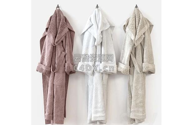 现代睡衣-现代睡衣服饰-睡衣模型,C4D睡衣模型-云酷网c4d