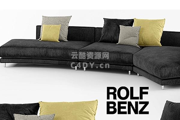 现代单沙发欧美沙发-室内欧美模型,C4D沙发欧美模型-云酷网c4d