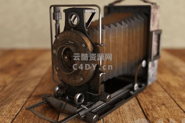 复古相机,室内摆件相机,C4D模型_云酷网C4D