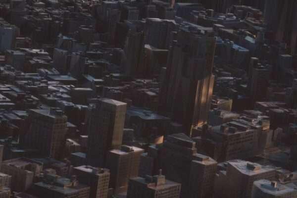 创意工程-大型城市场景_C4D工程文件大型城市场景场景模型_ Octane渲染工程